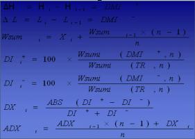 محاسبه ADX